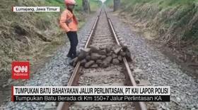 VIDEO: Batu Bahayakan Jalur Perlintasan, PT KAI Lapor Polisi