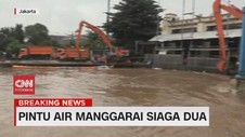 VIDEO: Pintu Air Manggarai Siaga Dua