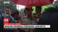 VIDEO: Anies Baswedan Sebut Banjir Jakarta Kali Ini Air Lokal