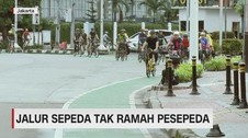 VIDEO: Jalur Sepeda Tak Ramah Pesepeda