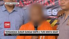 VIDEO: Tersangka Kasus Susur Sungai SMPN 1 Turi Minta Maaf