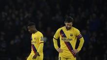 Barcelona Ditahan Napoli, Rekor Buruk Messi Berlanjut