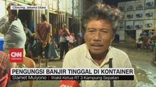 VIDEO: Pengungsi Banjir Jakarta Tinggal di Kontainer