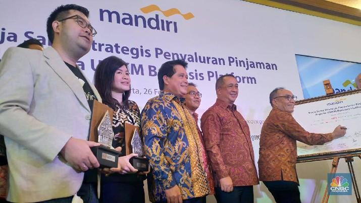 PT Bank Mandiri (Persero) Tbk (BMRI) mengumumkan kerja sama dengan sejumlah platform e-commerce.