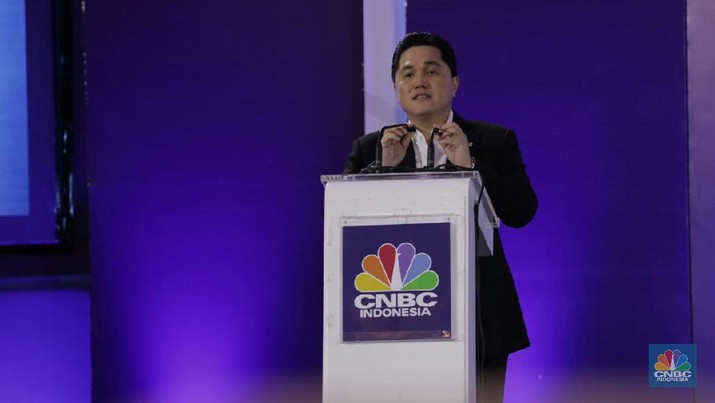 Menteri BUMN Erick Thohir (CNBC Indonesia/Tri Susilo)