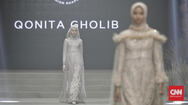 Temamodest weardiusung oleh beberapa label dan desainer seperti Kami, Mora, Qonita Gholib, Testimo, dan Tuty Adib.(CNN Indonesia/ Adhi Wicaksono)