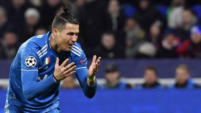 Juventus Kalah dari Lyon, Catatan Gol Ronaldo Putus