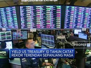 Yield US Treasury 10 Tahun Turun ke Level Terendah di 1,302%
