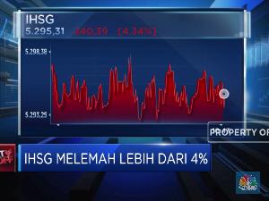 Terus Melemah, IHSG Anjlok Lebih Dari 4%