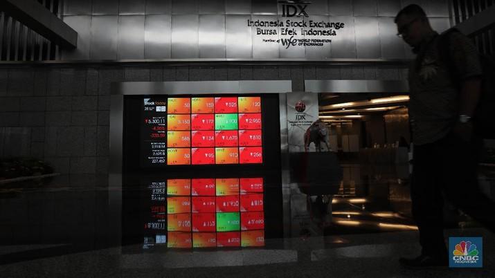 Ilustrasi Bursa Efek Indonesia, Jumat 28/2/2020 (CNBC Indonesia/Tri Susilo)