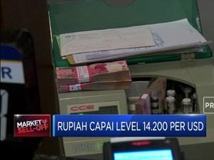 Melemah, Rupiah Sentuh Level 14.200 Per USD