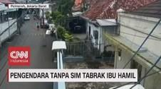 VIDEO: Pengendara Tanpa SIM Tabrak Ibu Hamil