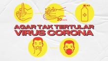 INFOGRAFIS: Agar Tak Tertular Virus Corona