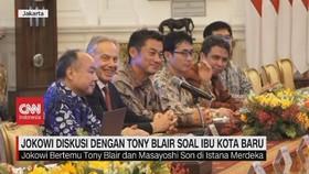 VIDEO: Jokowi Diskusi Dengan Tony Blair Soal Ibu Kota Baru