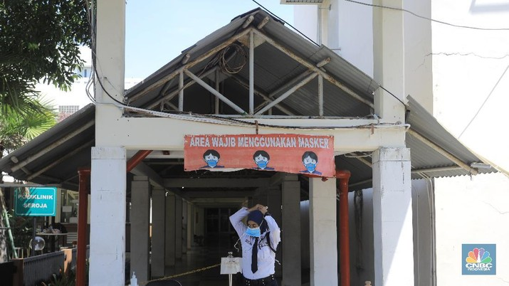 Suasana RSPI Sulianti Saroso Saat Kabar Adanya Pasien Positif Corona. (CNBC Indonesia/Andrean Kristianto)
