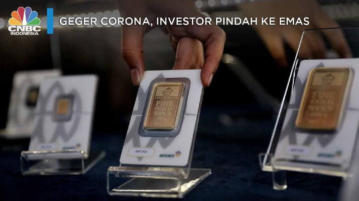 Sejak mencapai level rekor tertinggi hari Senin hingga hari ini, harga emas Antam sudah merosot Rp 42.000/gram atau 5,24%