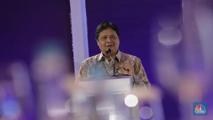 Airlangga Hartarto meminta agar perbankan bisa memberikan suku bunga di angka satu digit.