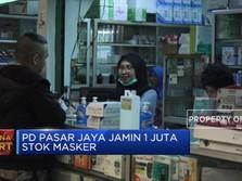 Dampak Corona, PD Pasar Jaya Jamin 1 Juta Stok Masker