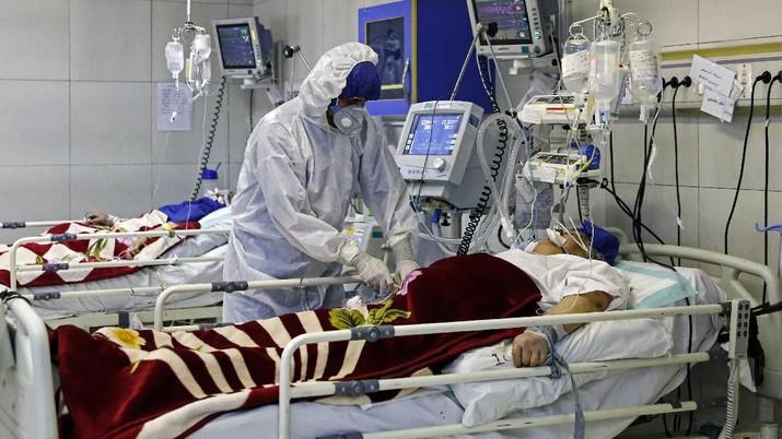 Wabah Virus Corona Timur Tengah, Iran. (Ali Shirband/Mizan News Agency via AP)