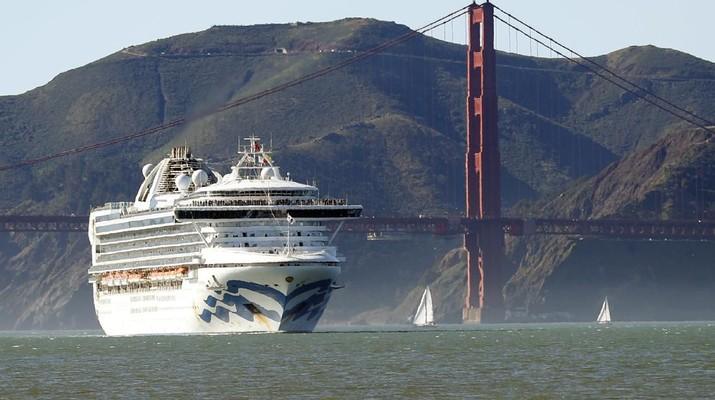 Ribuan penumpang kini harus terdampar di kapal pesiar Grand Princess.