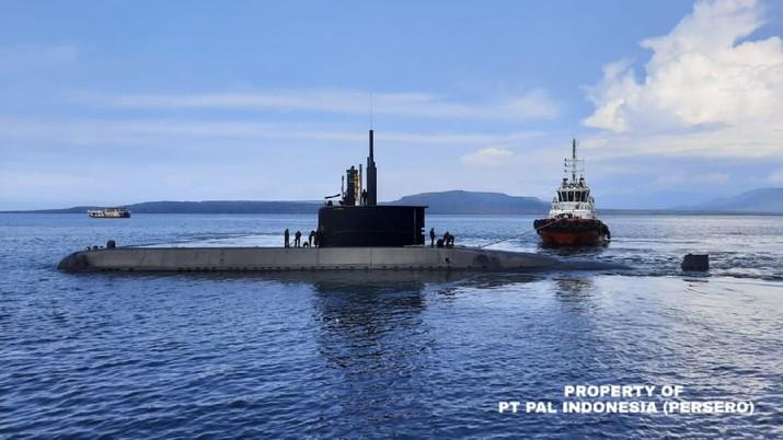 Kapal Selam Alugoro Berhasil Laksanakan Tactical Diving Depth di Utara Pulau Bali. (Dok: PERSERO)