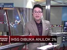 Bursa Memerah, IHSG Dibuka Anjlok 2%