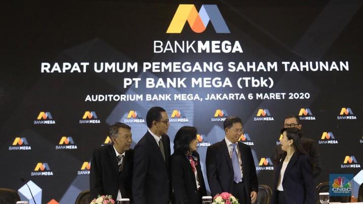 Rapat Umum Pemegang Saham Tahunan PT. Bank Mega (Tbk). (CNBC Indonesia/Andrean Kristianto)