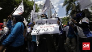 Buruh Demo di Bandung: Omnibus Law Lebih Bahaya dari Corona