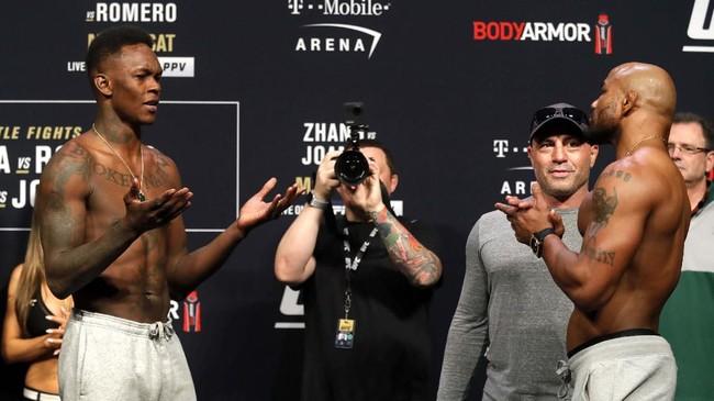 Dengan rasio menang KO/TKO yang tinggi, laga kemungkinan besar akan berlangsung dalam kondisi standing fight. (Steve Marcus/Las Vegas Sun via AP)