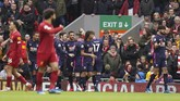 Laga berjalan sembilan menit Bournemouth berhasil unggul lewat gol Callum Wilson memanfaatkan assist Jefferson Lerma. (AP Photo/Jon Super)