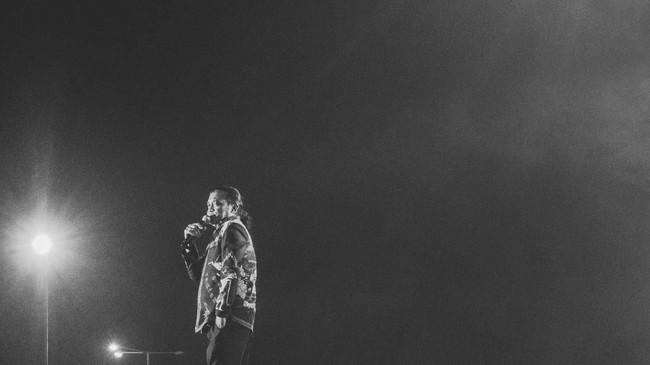 Bahkan, dirinya menyebut sudah membuat sampai 700 lagu sepanjang dia berkarier meskipun kini pencatatannya masih dalam proses. (ANTARA FOTO/Rivan Awal Lingga)