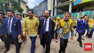 Airlangga dan Surya Paloh Bertemu di DPP Golkar