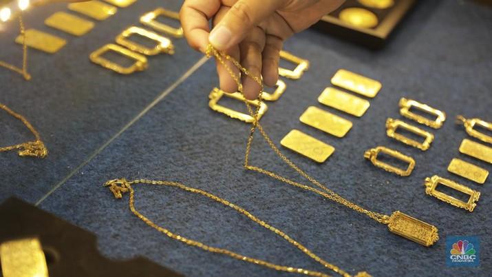 Harga emas dunia melemah tipis di perdagangan sesi Eropa Jumat (3/4/2020) setelah menguat tajam dalam dua hari terakhir.