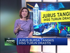 Jurus Bursa Tangkis IHSG Turun Drastis