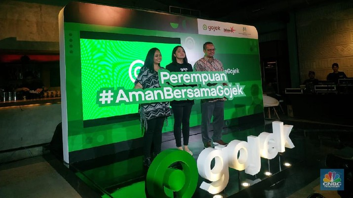 Perempuan #AmanBersamaGojek (CNBC Indonesia/Rahajeng Kusumo Hastuti)