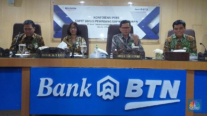 Rapat Umum Pemegang Saham Tahunan (RUPST) PT Bank Tabungan Negara (Persero) Tbk. (CNBC Indonesia/Cantika Adinda Putri)