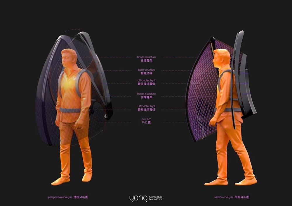 Desainer sekaligus artsitek yag bekerja di Penda China, Sun Dayong membuat baju anti corona. Baju ini bisa dipakai untuk mengisolasi penggunanya.