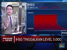 Amblas Lebih dari 3%, IHSG Tinggalkan Level 5.000