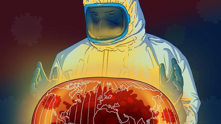 """Infografis/Alert! WHO Resmi Tetapkan Corona Sebagai """"Pandemi""""/Aristya Rahadian Krisabella"""