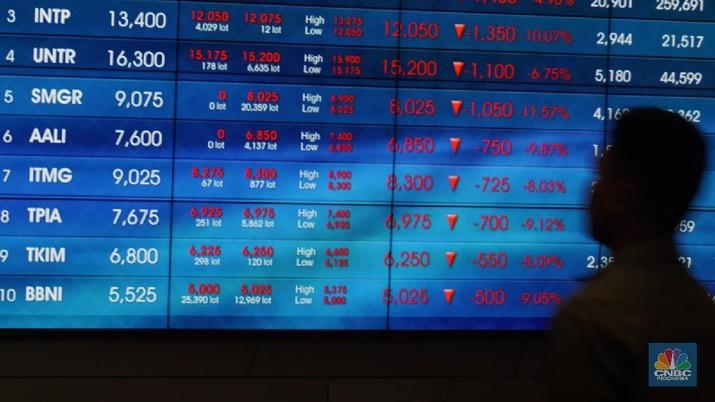 Indeks Harga Saham Gabungan (IHSG) langsung melesat pada perdagangan sesi I Kamis.