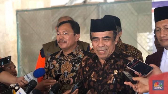 Menteri Agama Jenderal (Purn) Fachrul Razi. (CNBC Indonesia/Chandra Gian Asmara)