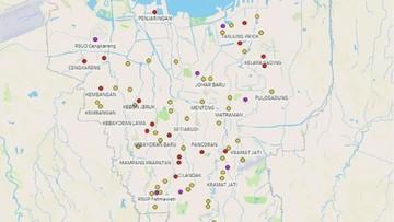 Peta Corona Jakarta Kini Tampilkan Pergerakan Pasien Corona