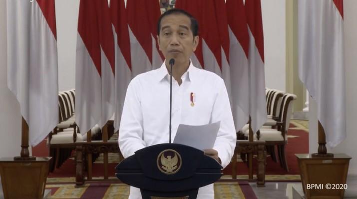 Simak penjelasan Jokowi dalam keterangan pers di Istana Kepresidenan Bogor, Jawa Barat, Senin (16/3/2020).