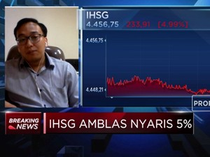 Amblas Nyaris 5%, IHSG Tinggalkan Level 4.500