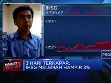 Sentimen Negatif Tekan Pasar, IHSG Ditutup Melemah Hampir 3%