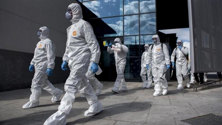 Kondisi Terkini Lockdown di Spanyol. AP/Manu Fernandez