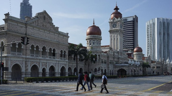 Angka pasien positif corona di Malaysia semakin meningkat.