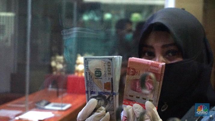 Dollar AS - Rupiah (CNBC Indonesia/Muhammad Sabki)
