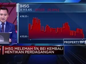 IHSG Anjlok 5%, BEI Kembali Hentikan Perdagangan