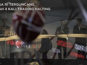 Bursa RI Terguncang, Sepekan 4 Kali Perdagangan Dihentikan